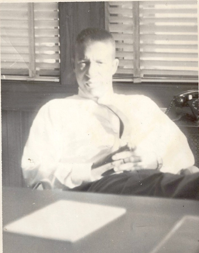 Dad in his EEOC office not long before police beating