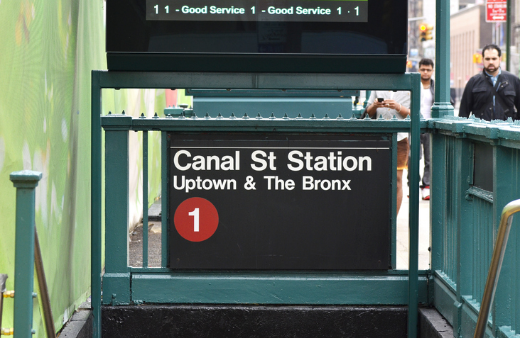 NYC subway entrance