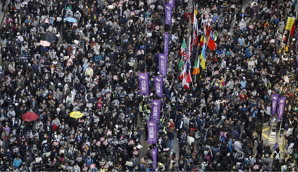 Hong Kong Protesters for George Floyd 6/2020