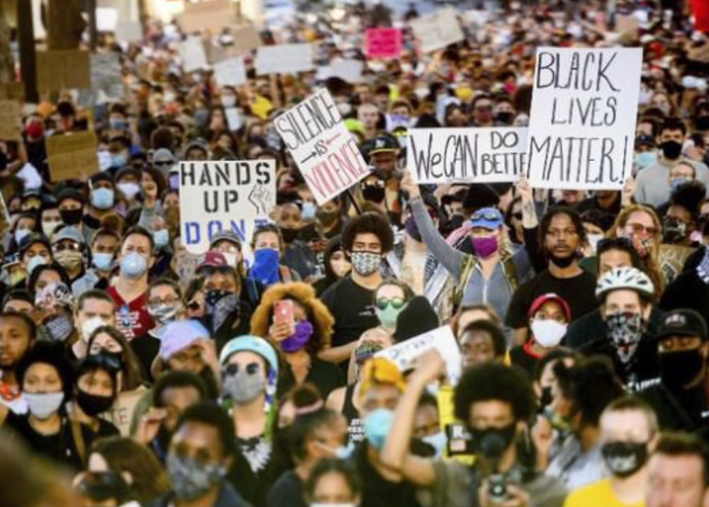 Young people  nationwide protesting police brutality