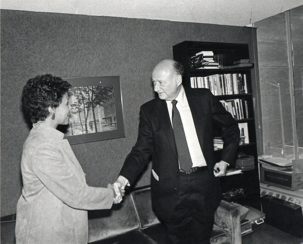 NYC Mayor Ed Koch & me 1986