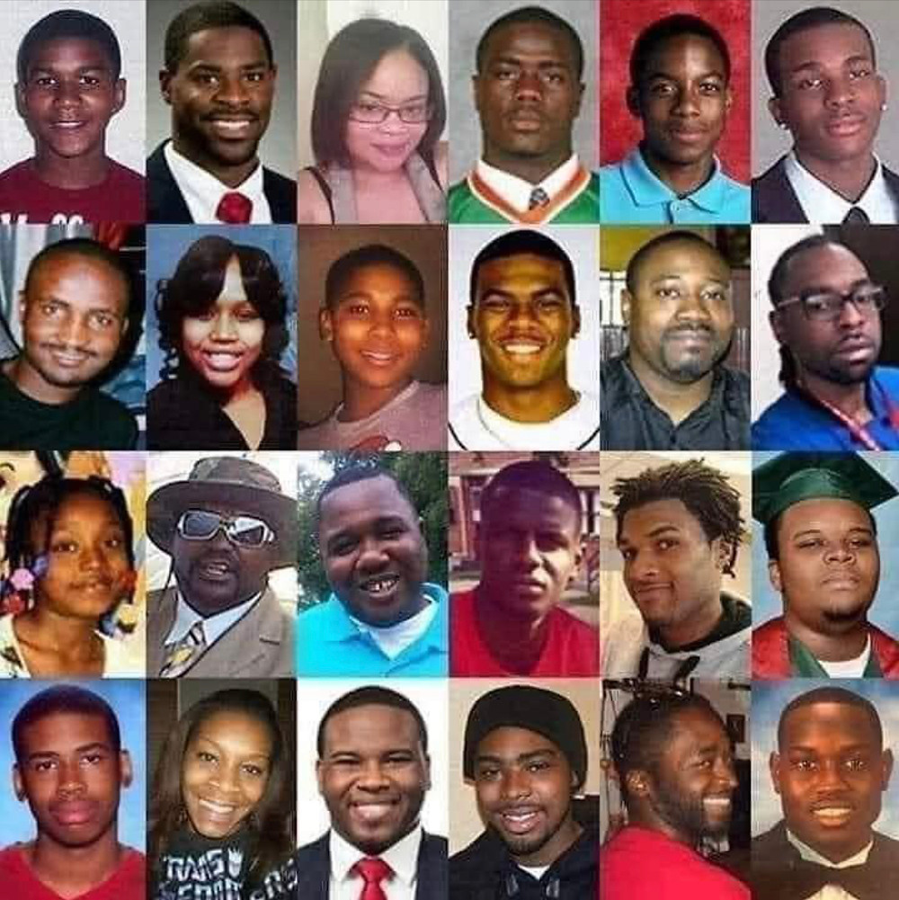 African Americans murdered by whites in recent years