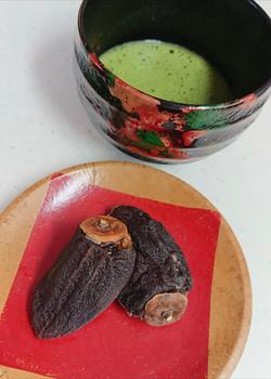 干し柿の白ミルクあん~お抹茶~