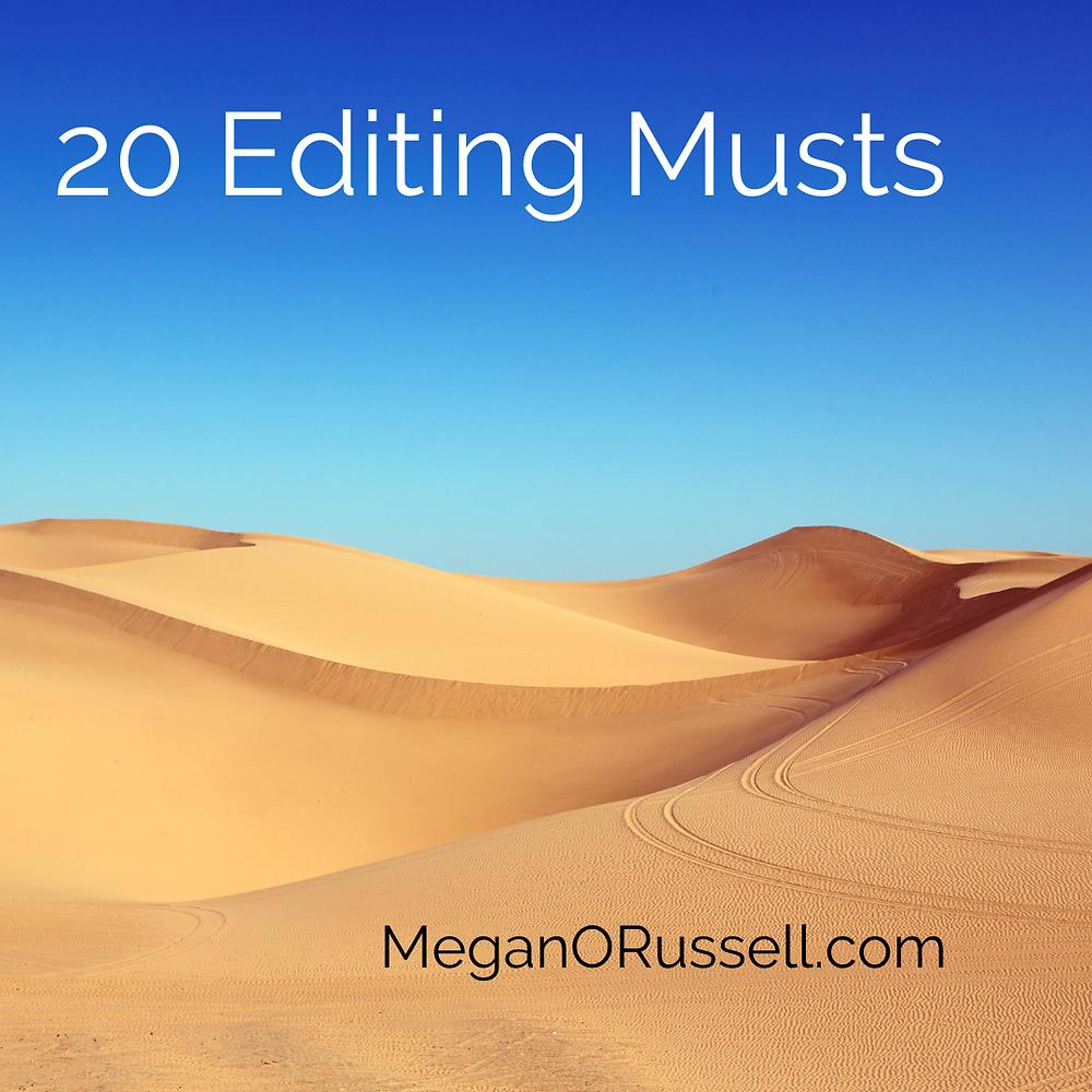 20 Editing Musts