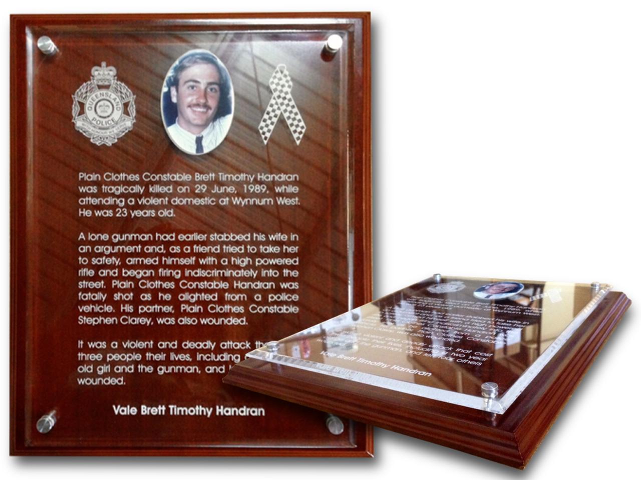 Police Memorial Plaque