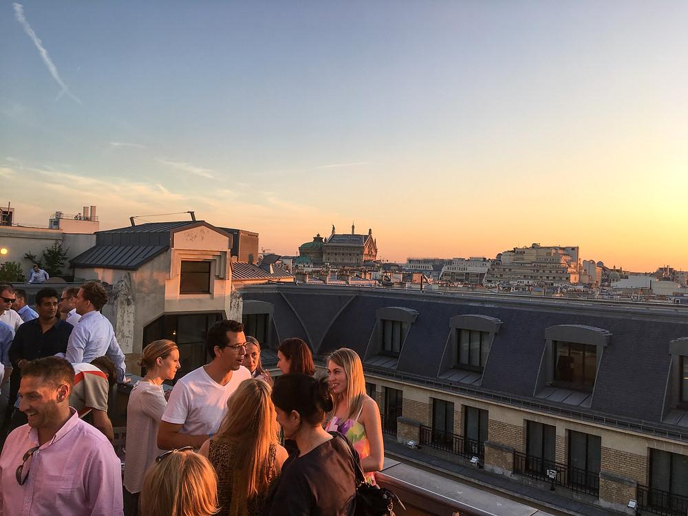 Terrace of WeWork Paris on Rue la Fayette