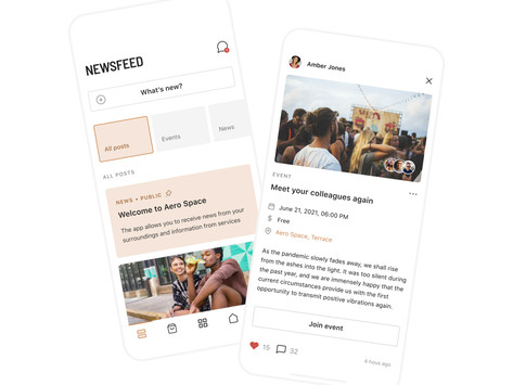 Taking a look at Spaceflow's upgraded features: Newsfeed
