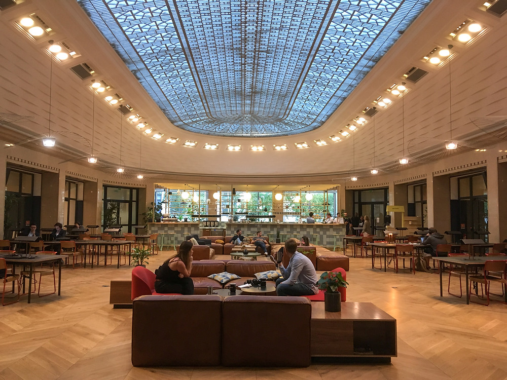 Lobby in WeWork Paris on Rue la Fayette.