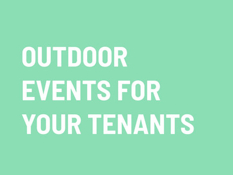 How to use event planning to give tenants the outdoor time they need