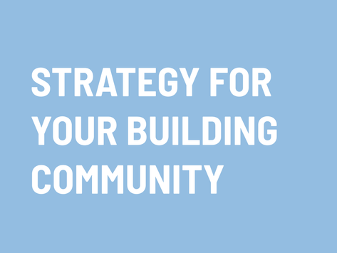 How to create an effective strategy for your occupiers?