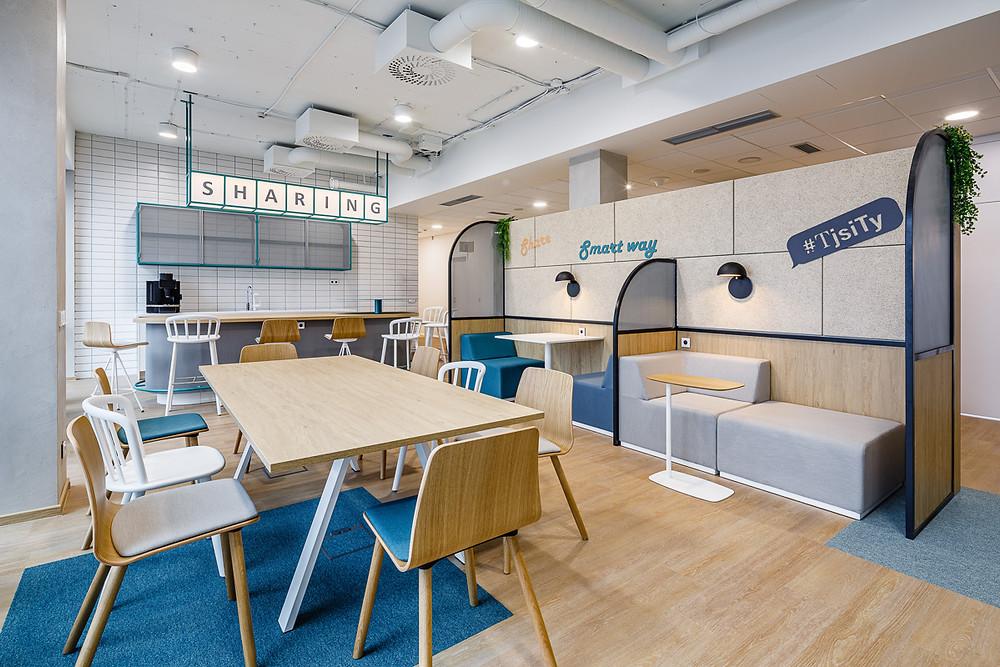 Informal meeting space in Jan Becher Pernod Ricard offices
