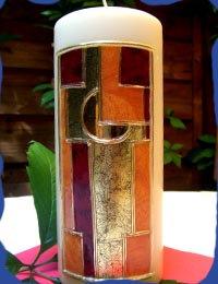 Kerze Kreuz modern