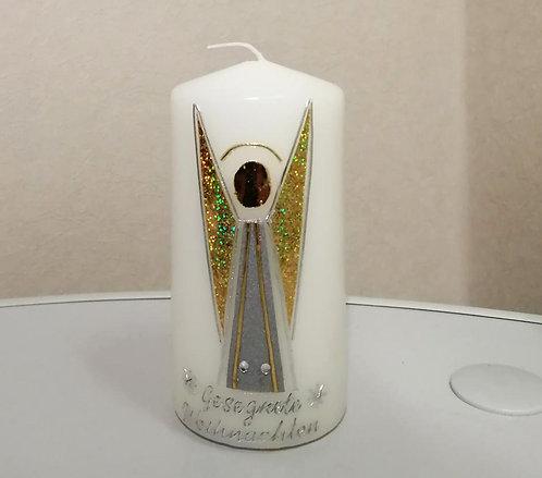 Kerze Engel gold/silber
