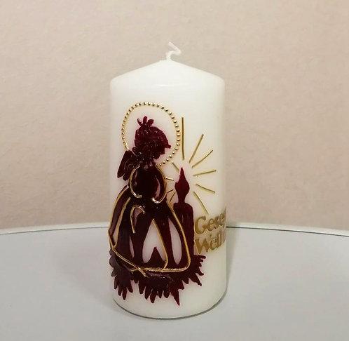 Kerze Gesegnete Weihnachten