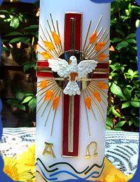 Kerze Heiligste Dreifaltigkeit 1