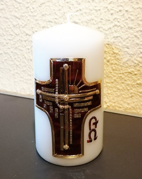 Kerze Modernes Kreuz