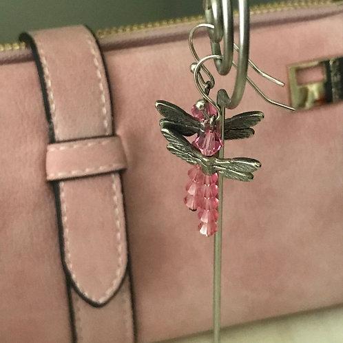 Pink Dragonflies Earrings