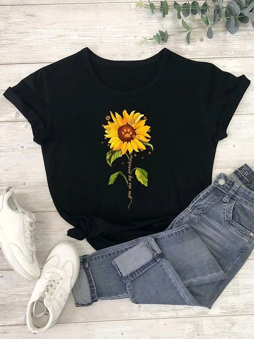 Floral Graphic Tee