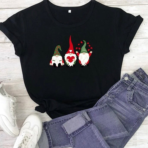 Whimsical Gnomes Tee, L or XL