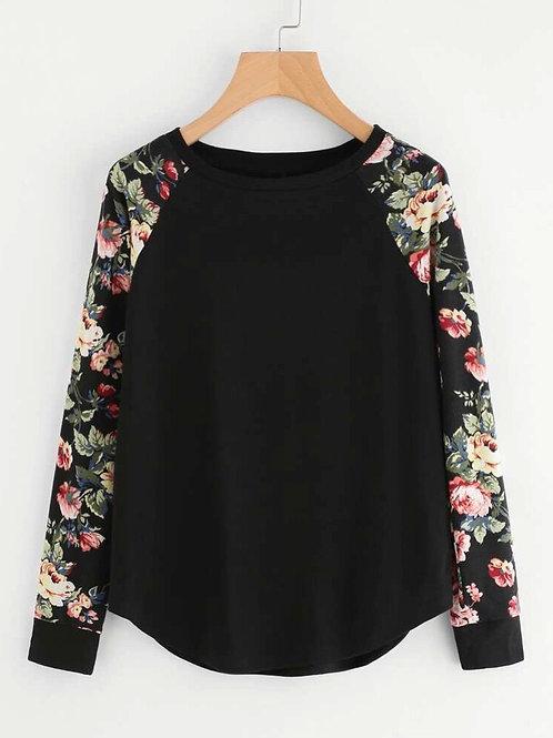 Rose Garden Sleeve Top, XS or S