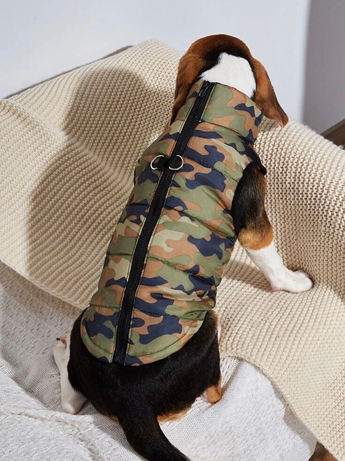 Camo dog coat