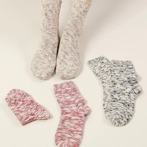Set of 3 pairs of Space Dyed Knit Socks