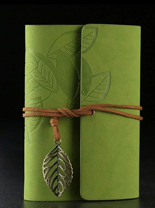 Vintage Leather Journal, green