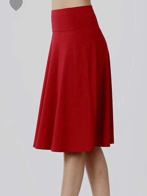 Favorite Midi Skirt, Dark Red