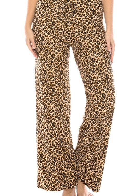 Soft Pajama Pants, cheetah print