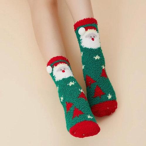 Holiday Slipper Socks, 2pack