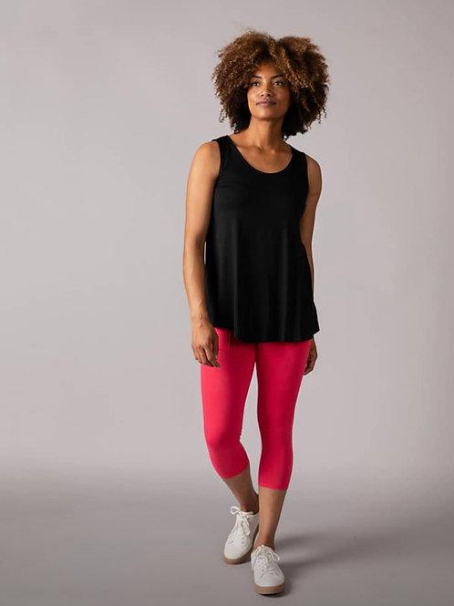 Capri Leggings w/pockets,pink, S