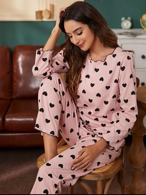 Hearts Pajama Set