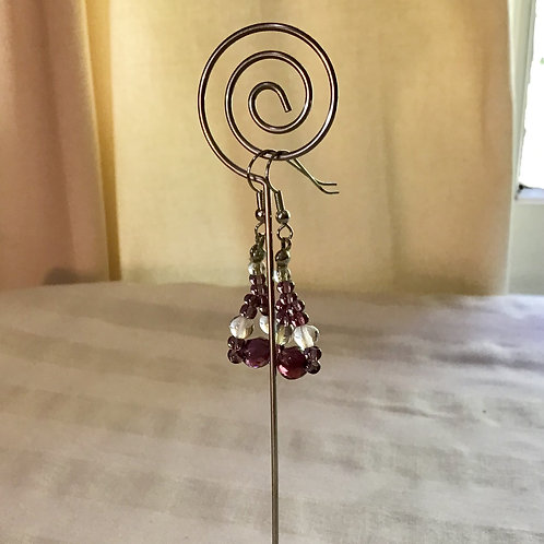 Purple Crystal Earrings