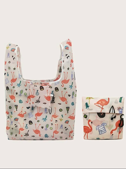 Flamingo Foldable Bag