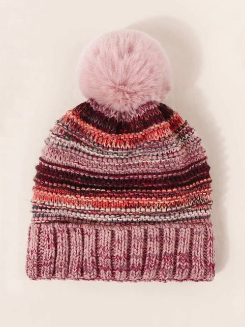 Mauve Pom Hat