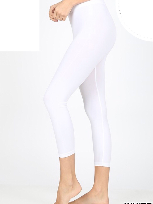 Capris with Tummy Control, white