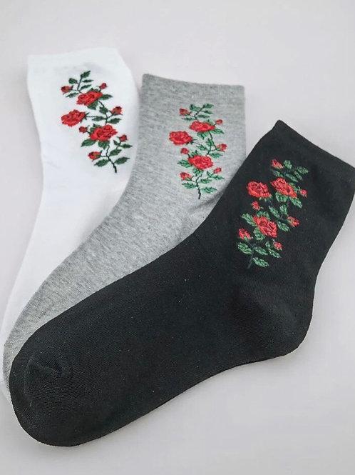 Set of 3 Floral design Socks