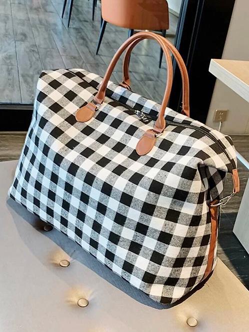 Buffalo Check Travel Bag