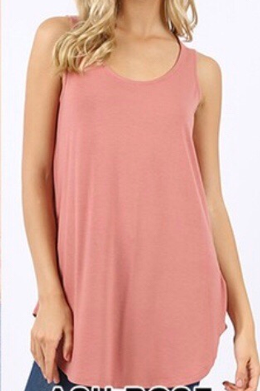 Scoop Neck Tank, rose, 1XL, 2XL