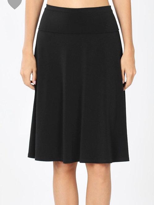 Favorite Midi Skirt, Black