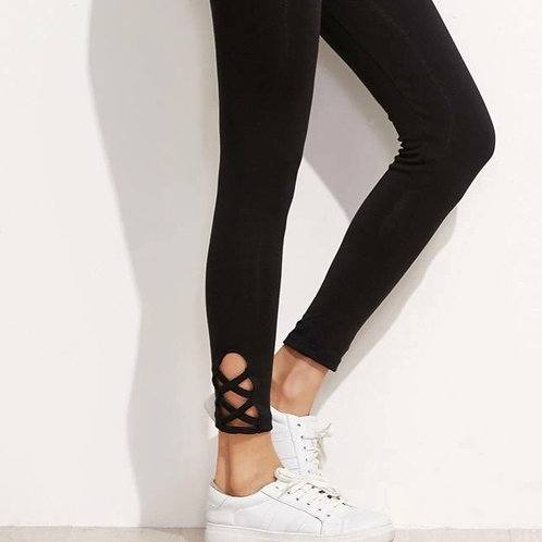 Lattice Ankle Leggings