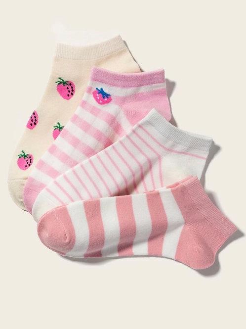 Berry socks, 4 pack