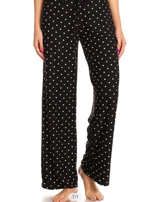 Soft Pajama Pants, dots print