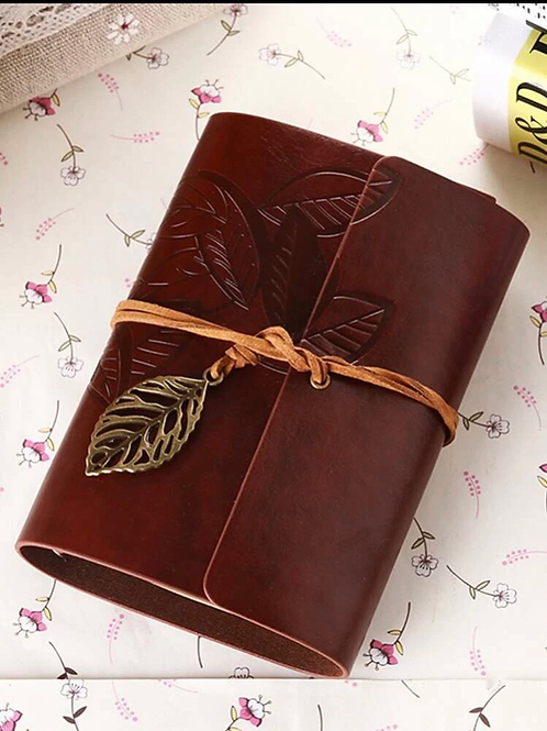 Vintage Leather Journal, brown