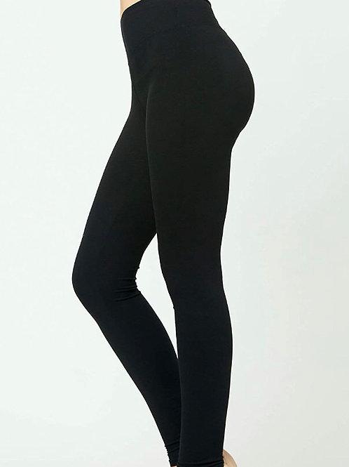 Premium Black Fleece Leggings