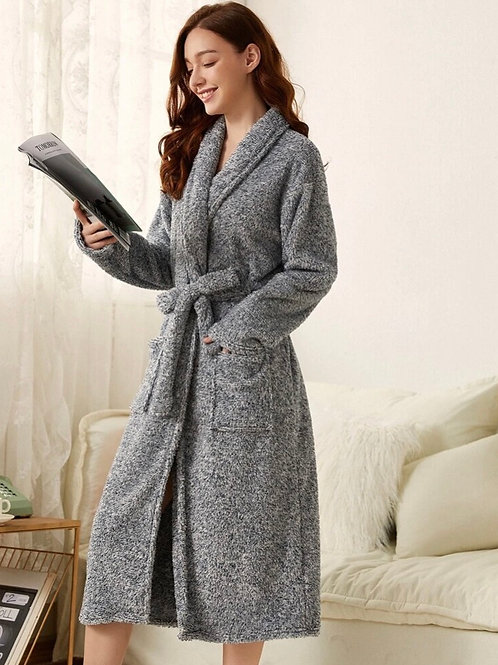 Charcoal Sherpa Robe, M/L