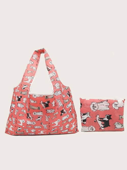 Go Dog Go Foldable Tote Bag, large