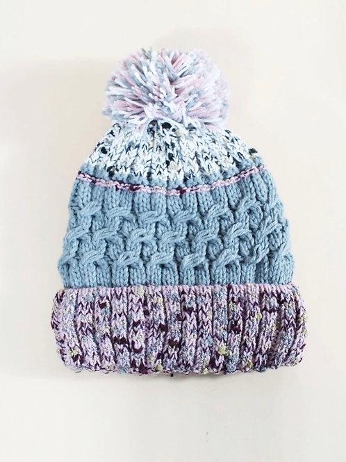 Sherpa lined Purple Pom Hat
