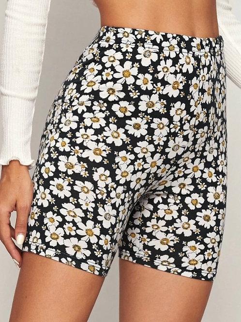 Daisy Biker Shorts, black, XL