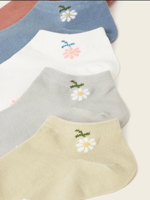 Daisy Multi Socks Set, 5 pack